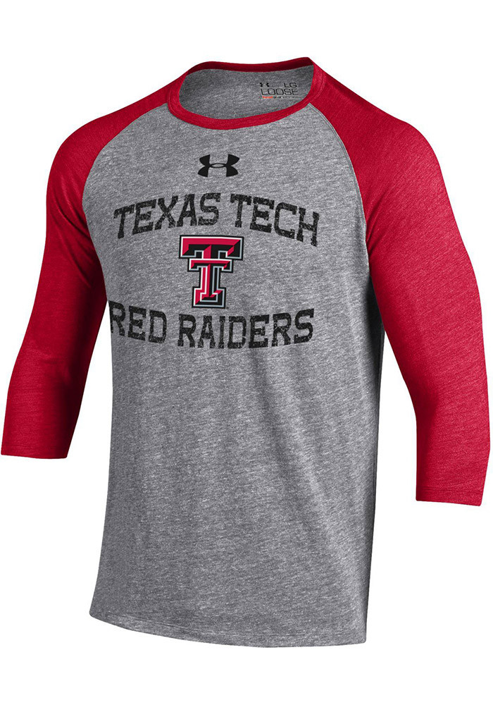 Under armour texas tech red raiders mens grey baseball smu for Texas baseball t shirt