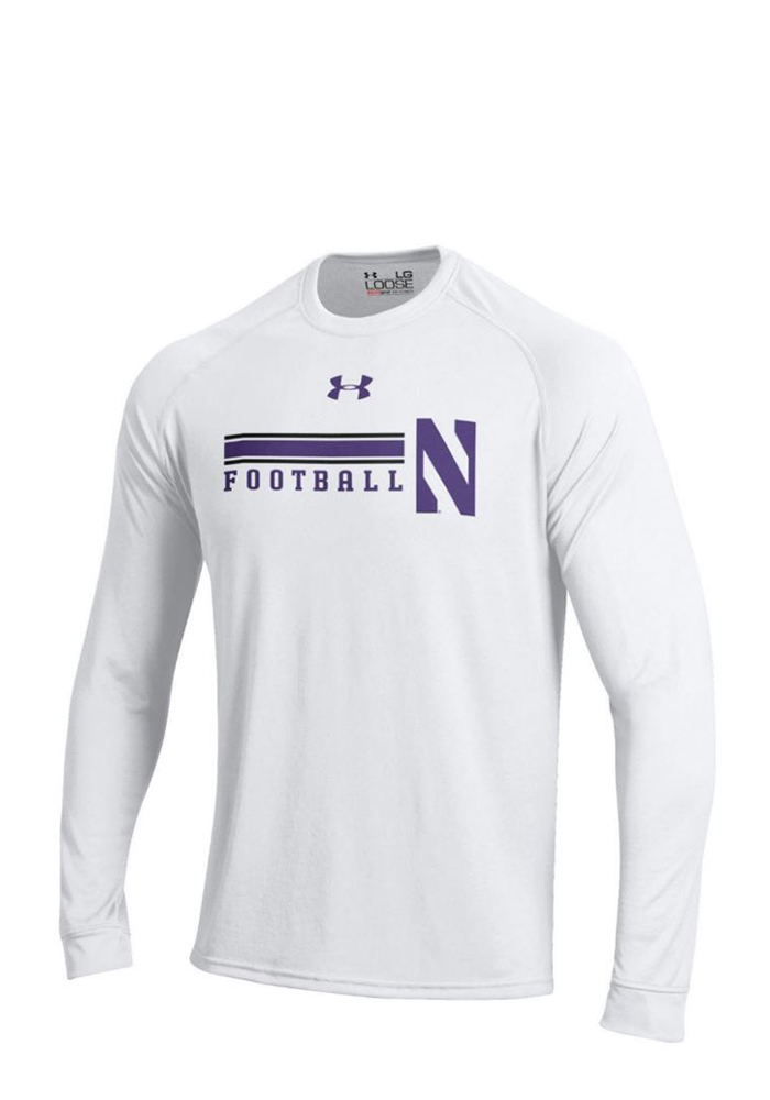 Under Armour Northwestern Wildcats Mens White Tech Performance Tee 55291105