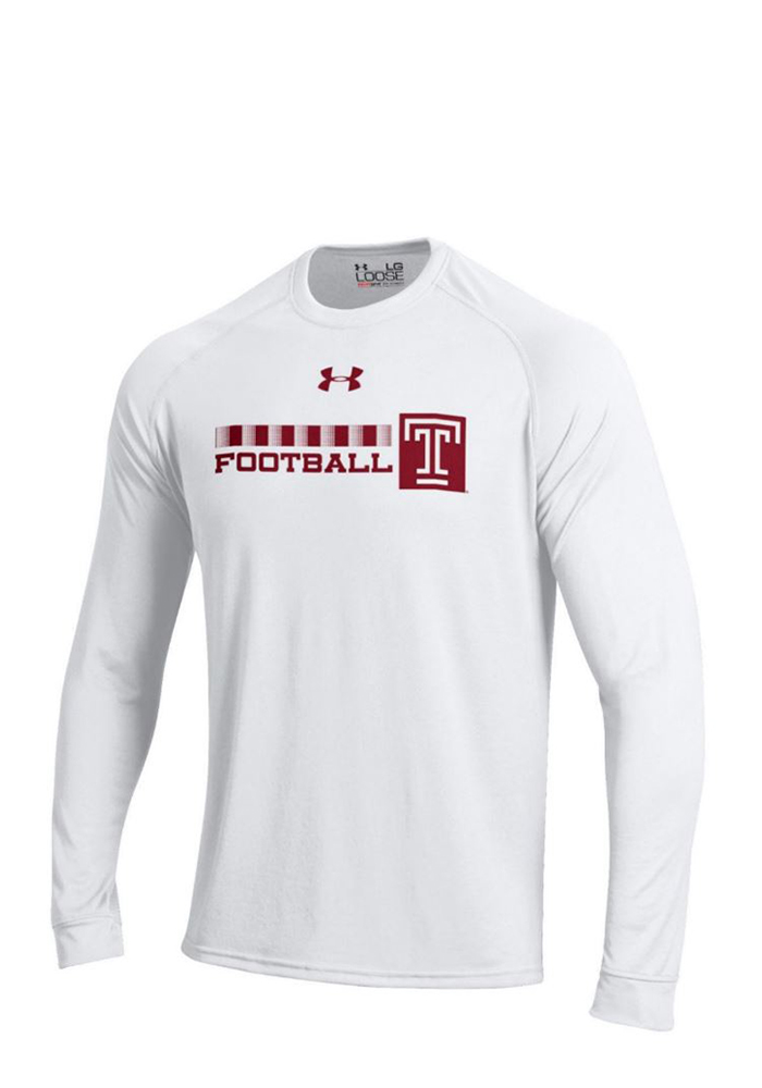 Under Armour Temple Mens White Tech Performance Tee 55291107