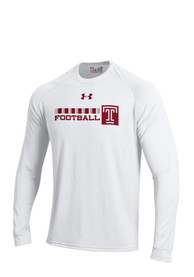 Under Armour Temple Owls White Tech Tee