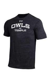 Under Armour Temple Owls Black Triblend Fashion Tee