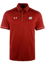 Wisconsin Badgers Under Armour Podium Polo Shirt - Red
