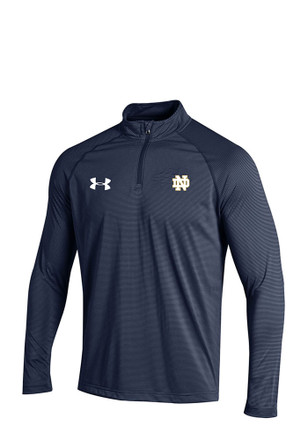 Under Armour Notre Dame Navy Mens Long Sleeve 1/4 Zip