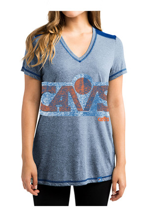 Cleveland Cavaliers Womens Blue Victory Smile V-Neck