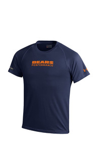Under Armour Chicago Bears Youth Navy Blue Wordmark Tech T-Shirt