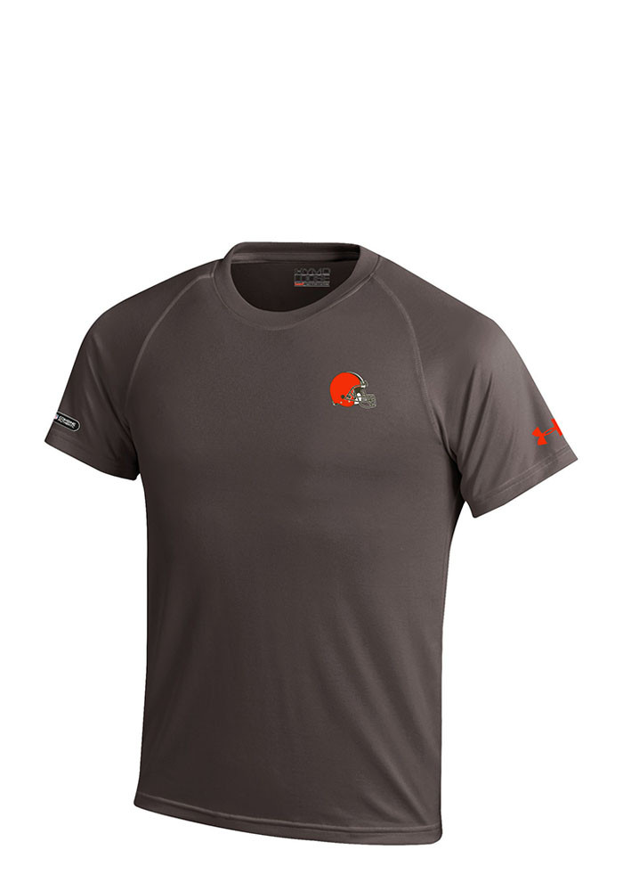 Under armour cleveland browns youth brown logo tech short for Under armour brown t shirt