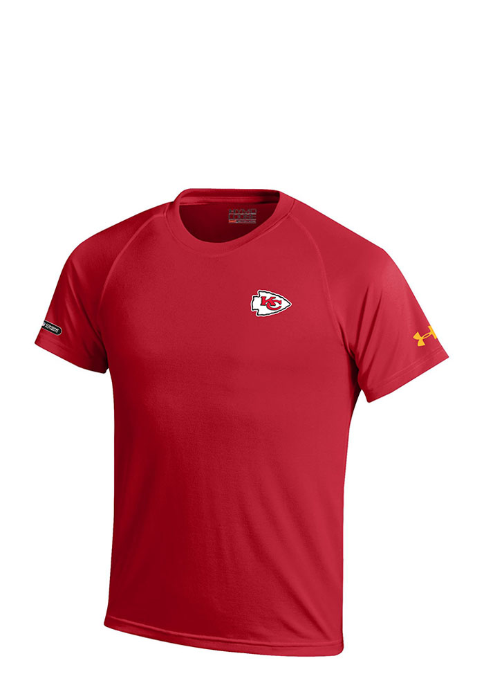 Under Armour KC Chiefs Youth Red Logo Tech Performance T-Shirt 55291205
