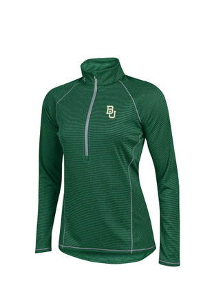 Under Armour Baylor Womens Tech Green 1/4 Zip Performance Pullover