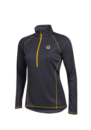 Under Armour Mizzou Tigers Womens Tech Black 1/4 Zip Performance Pullover