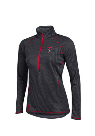 Under Armour Texas Tech Womens Tech Black 1/4 Zip Performance Pullover