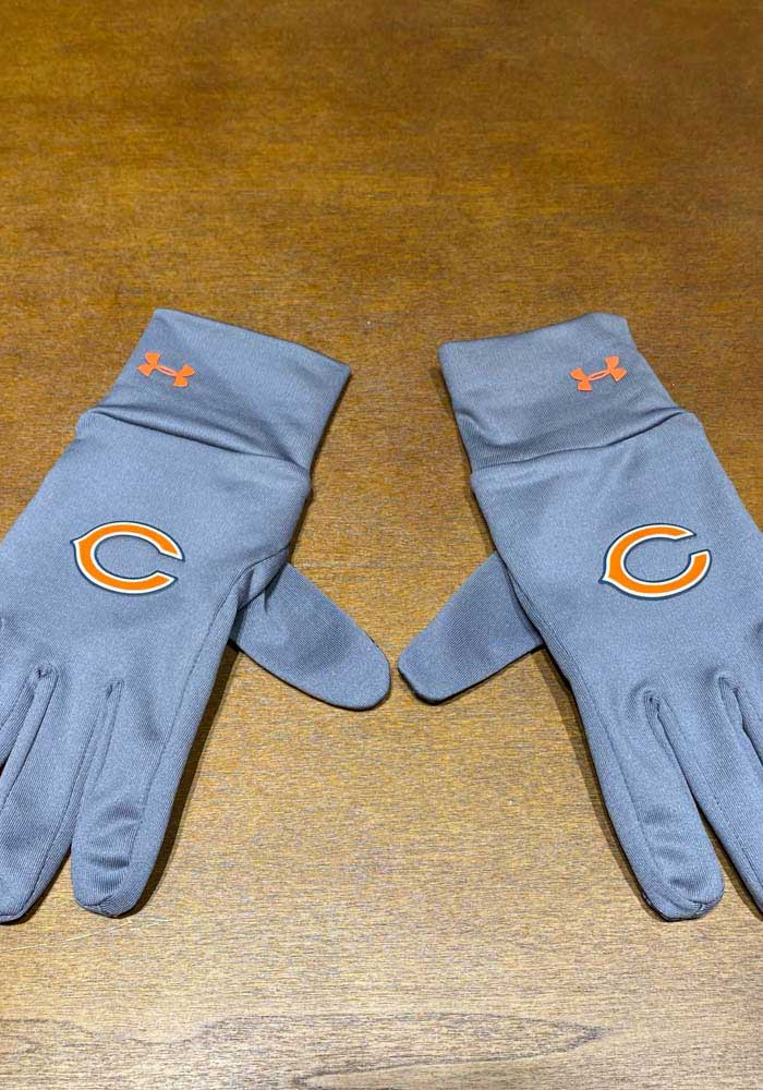 Chicago Bears Womens Under Armour Liner Gloves - Black
