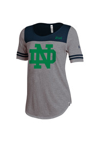 Under Armour Notre Dame Fighting Irish Womens Iconic Grey Scoop T-Shirt