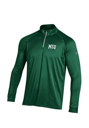 Under Armour MSU Mens Green Tech 1/4 Zip Performance Pullover