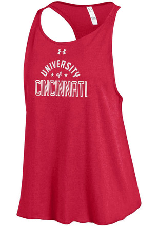 Under Armour Cincinnati Bearcats Womens Red Trapeze Tank Top