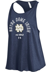 Under Armour Notre Dame Fighting Irish Juniors Navy Blue Trapeze Tank Top