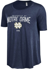 Under Armour Notre Dame Fighting Irish Juniors Navy Blue Trapeze Scoop