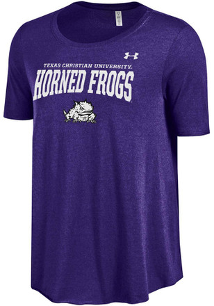 Under Armour Horned Frogs Womens Purple Trapeze Scoop