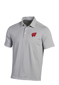 Wisconsin Badgers Under Armour Kirkby Polo Shirt - White