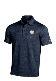 Notre Dame Fighting Irish Under Armour Elevated Polo Shirt - Navy Blue