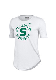 Under Armour Michigan State Spartans Womens Studio White T-Shirt