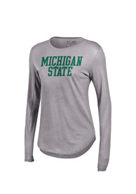 Under Armour Michigan State Spartans Womens Studio Grey T-Shirt