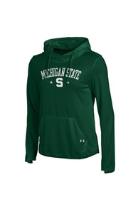 Under Armour Michigan State Spartans Womens Green screen print Hoodie