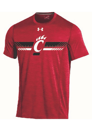 Under Armour Cincinnati Bearcats Mens Red Training Tee