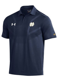 Notre Dame Fighting Irish Under Armour Tour Polo Shirt - Navy Blue