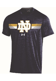 Under Armour Fighting Irish Navy Blue SS Tee