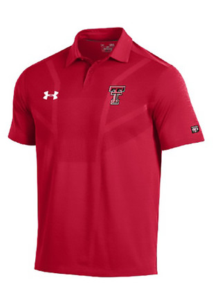 Under Armour Texas Tech Red Raiders Mens Red Tour Short Sleeve Polo Shirt
