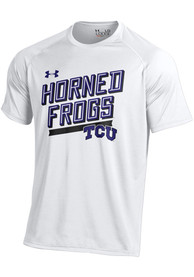 Under Armour TCU Horned Frogs White Slant Tee