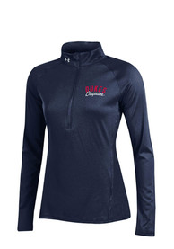 Under Armour Duquesne Dukes Womens Tech Navy Blue 1/4 Zip Pullover