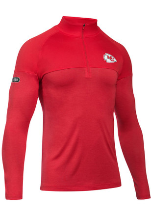 Under Armour Kansas City Chiefs Mens Red Combine Authentic 1/4 Zip Pullover