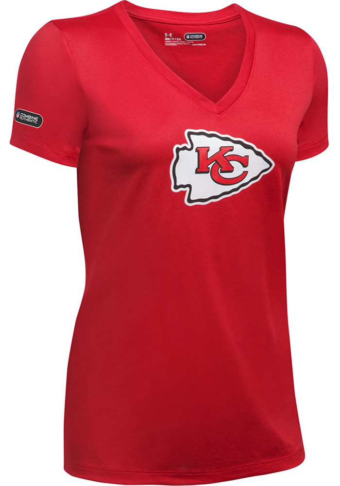 Under Armour Kansas City Chiefs Womens Combine Authentic Red Short Sleeve  Tee 7c83e719d