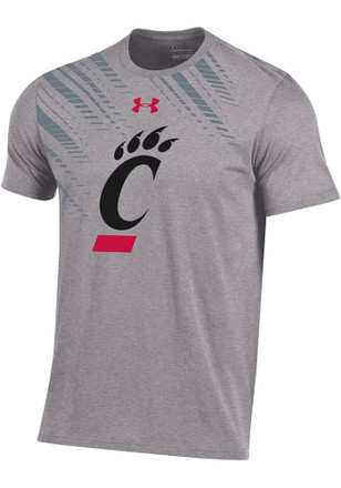 Under Armour Cincinnati Bearcats Mens Grey Charged Cotton Off-Shore Tee