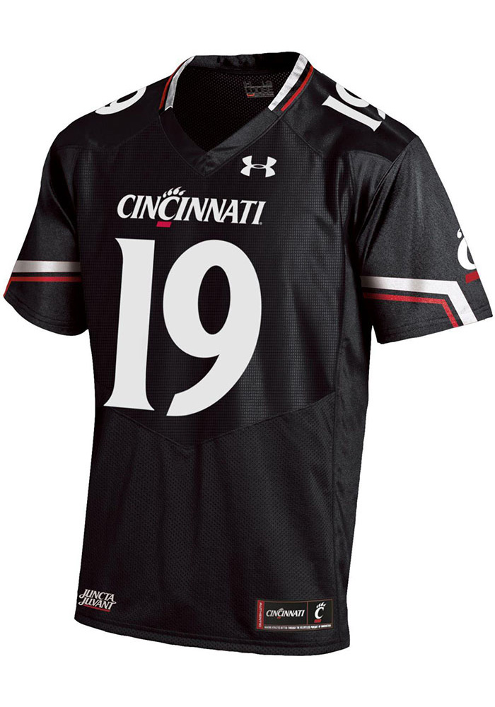 Under Armour Cincinnati Bearcats Mens Black Sideline Football Jersey - Image 1