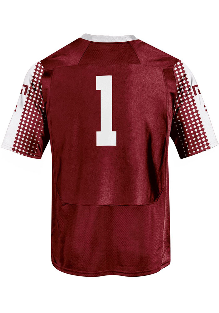 Under Armour Temple Owls Mens Crimson Sideline Football Jersey - Image 2
