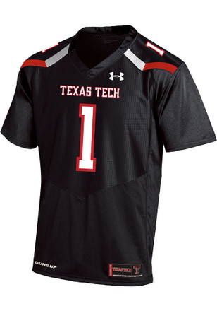 Under Armour Texas Tech Red Raiders Mens Black Sideline Jersey