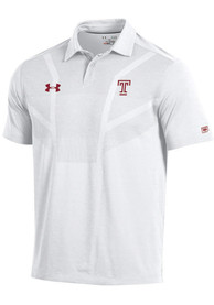 Temple Owls Under Armour Tour Polo Shirt - White