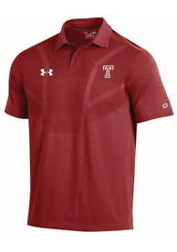 Temple Owls Under Armour Tour Polo Shirt - Red