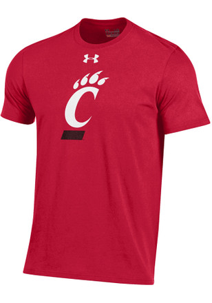 Under Armour Cincinnati Bearcats Mens Red Charged Cotton Tee