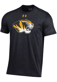 Under Armour Missouri Tigers Black Charged Cotton Tee