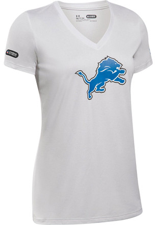 Under Armour Detroit Lions Womens Combine Authentic Grey Short Sleeve Tee
