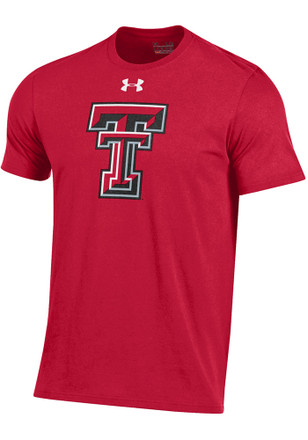 Under Armour Texas Tech Red Raiders Mens Red Charged Cotton Tee
