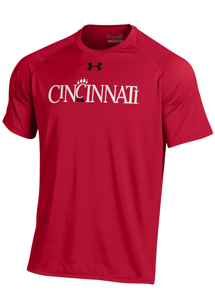 Under Armour Cincinnati Bearcats Red Vintage Short Sleeve T Shirt - Image 1