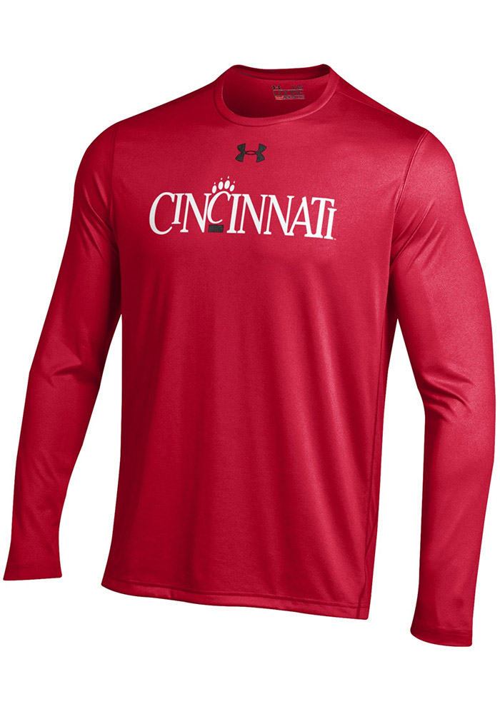 Under Armour Cincinnati Bearcats Red Vintage Long Sleeve T-Shirt - Image 1
