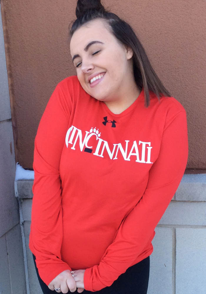 Under Armour Cincinnati Bearcats Red Vintage Long Sleeve T-Shirt - Image 2