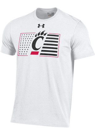 Under Armour Cincinnati Bearcats Mens White Military Appreciation Tee