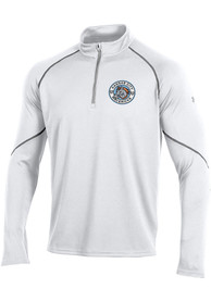 Kansas City Mavericks Under Armour Primary Logo 1/4 Zip Pullover - White