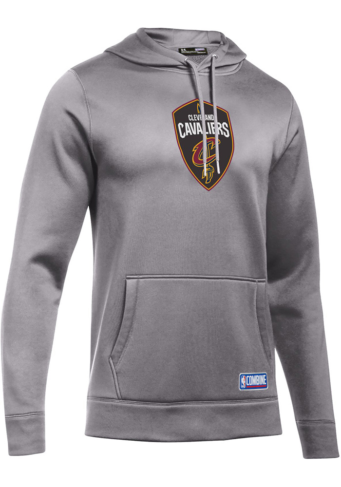 Under Armour Cleveland Cavaliers Mens Grey Authentic Logo Hood - Image 1